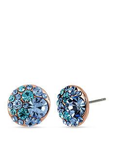Betsey Johnson Multi Crystal Stud Earring