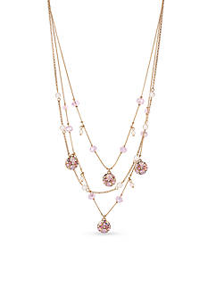 Betsey Johnson Gold-Tone Memoirs Of Betsey Illusion Necklace