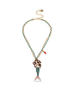 Betsey Johnson Mermaid Pendant Necklace