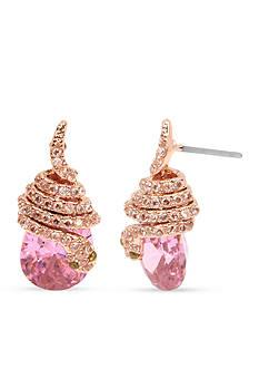 Betsey Johnson Rose Gold-Tone Snake Wrap Drop Earrings