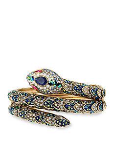 Betsey Johnson Gold-Tone Snake Wrap Cuff Bracelet
