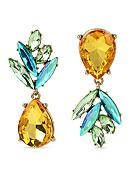 Betsey Johnson Gold-Tone Faceted Stone Pineapple
