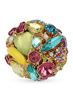 Betsey Johnson Gold-Tone Fruit And Faceted Stone Ring