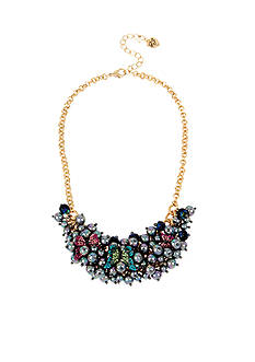Betsey Johnson Gold-Tone Butterfly & Pearl Statement Necklace