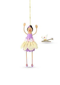 Betsey Johnson Silver-Tone Flower Girl Ornament & Bird Charm Set