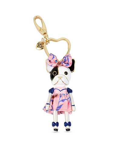 Betsey Johnson® Gold-Tone Puppy Girl Key Chain