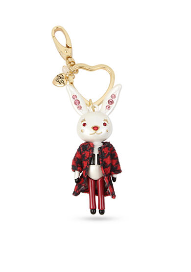 Betsey Johnson Gold-Tone Bunny Key Chain
