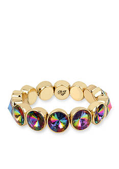 Betsey Johnson Multicolored Faceted Stone Stretch Bracelet