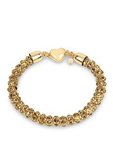 Betsey Johnson Topaz Faceted Stone Chain Bracelet