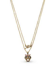 Betsey Johnson Gold-Tone Nite Owl Multi Strand Necklace