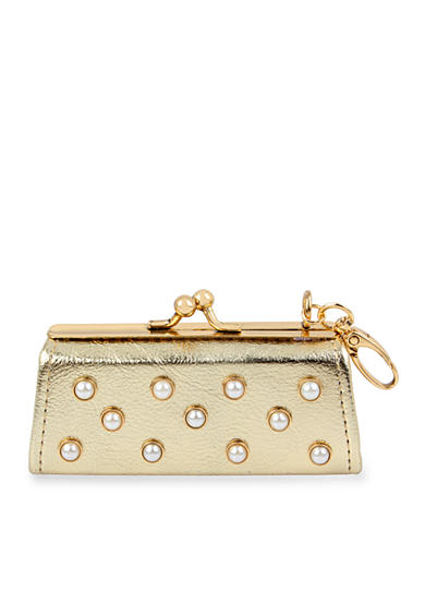 Betsey Johnson Gold-Tone Pearl Purse Waste Bag Holder