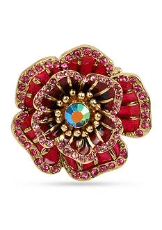 Betsey Johnson Gold-Tone Rose Ring