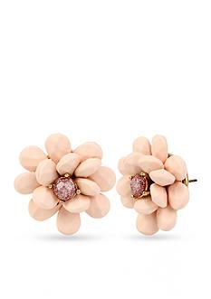 Betsey Johnson Gold-Tone Flower Button Stud Earrings