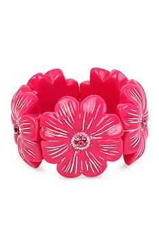 Betsey Johnson Tropical Flower Stretch Bracelet
