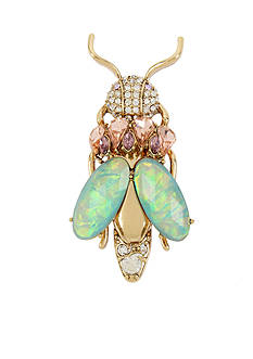 Betsey Johnson Gold-Tone Pave Insect Pin