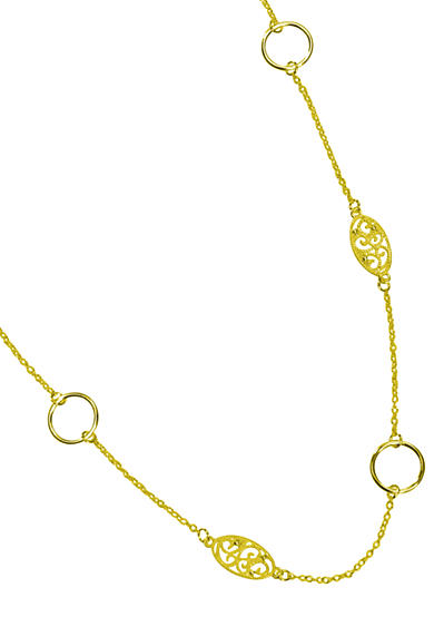 New Directions® Single Row Gold-Tone Filigree Necklace