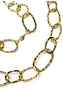 New Directions® Gold Hammered Oval Link