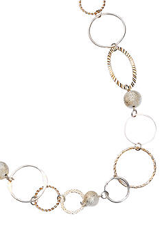 New Directions® Single Row Gold Link Necklace