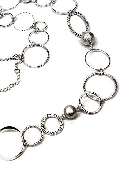 New Directions® Single Row Silver-Tone Link Necklace
