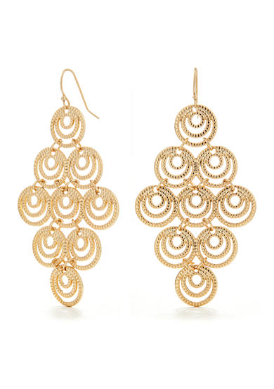 New Directions® Gold-Tone Kite Filigree Earring