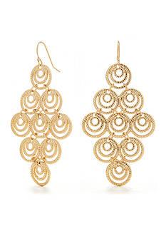 New Directions® Gold-Tone Kite Filigree Earring