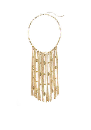 New Directions® Gold-Tone Fringe Collar Necklace