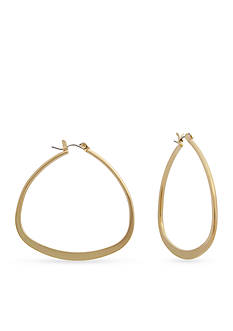New Directions® Triangle Hoop Earrings