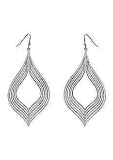 New Directions Silver-Tone Lantern Chandelier Earrings