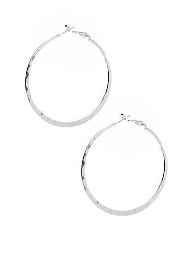 New Directions® Silver-Tone Hoop Earrings