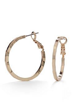 New Directions® Gold-Tone High Shine Hoop Earrings