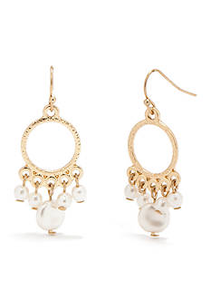 New Directions® Gold-Tone Small Chandelier Pearl Earrings