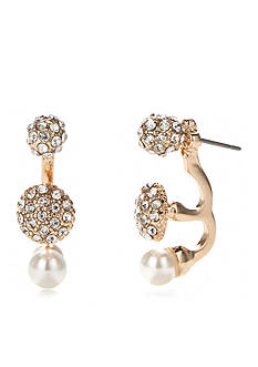 New Directions® Gold-Tone Ear Jacket With Pearl Earrings