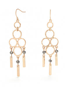 New Directions® Gold-Tone Circle Chandelier Earrings