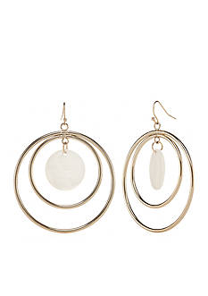 New Directions Gold-Tone In The Sand Drop Earrings