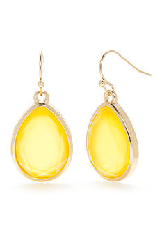 New Directions® Gold-Tone Summer Brights Teardrop Earrings