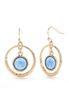 New Directions® Gold-Tone Summer Brights Ring Drop Earrings