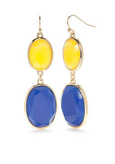 New Directions® Gold-Tone Summer Brights Double Drop Earrings