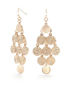 New Directions® Gold-Tone Disco Multi Coin Chandelier Earrings