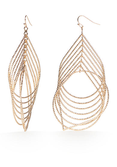New Directions® Gold-Tone Layered Teardrop Drop Earrings