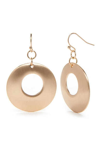 New Directions® Gold-Tone Disc Drop Earrings