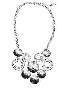New Directions® Hammered Disc Bib Necklace