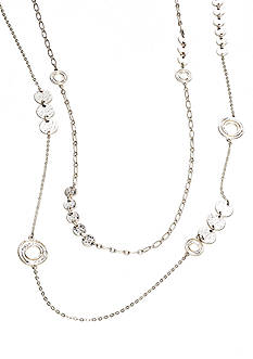 New Directions Long Two Row Disc Necklace