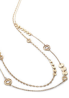 New Directions® Disc and Swirl Necklace