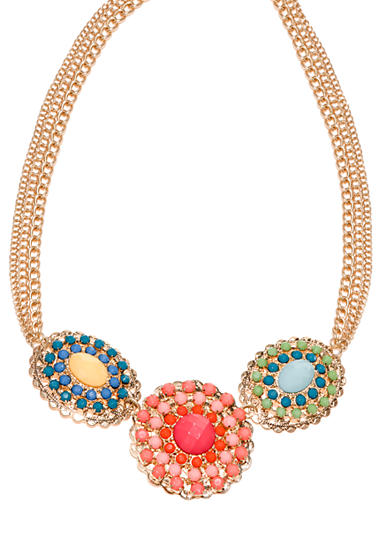 New Directions® Multi Colored Filigree Statement Necklace