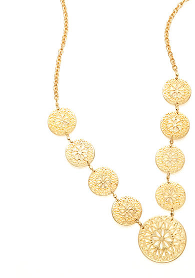 New Directions® Worn Gold-Tone Long Single Strand Necklace