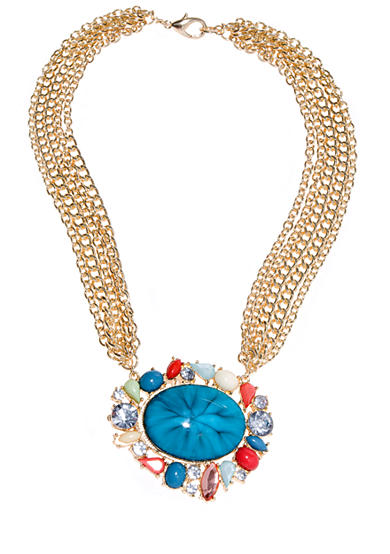 New Directions® Turquoise Multi Statement Necklace