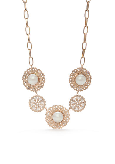 New Directions® Gold-Tone Pearl Statement Necklace