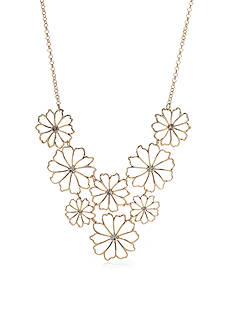 New Directions Gold-Tone Flower Statement Necklace