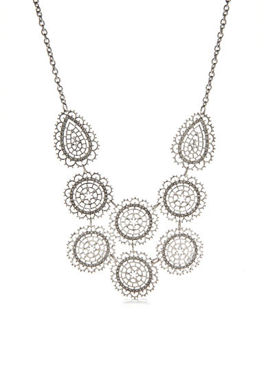 New Directions® Silver-Tone Bib Necklace