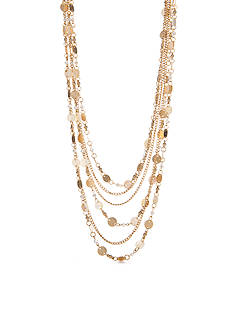 New Directions Gold-Tone In The Sand Multistrand Necklace